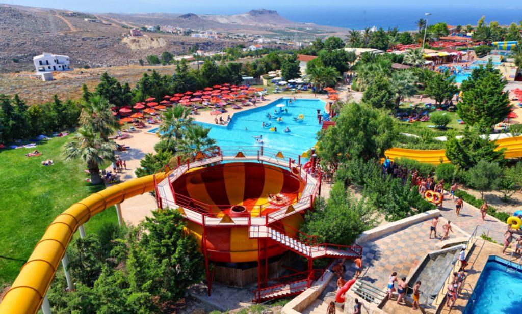 Аквапарк Water City рядом с Ираклионом Греция Крит