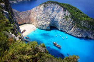 Бухта Навагио Закинтос Греция красивые фото