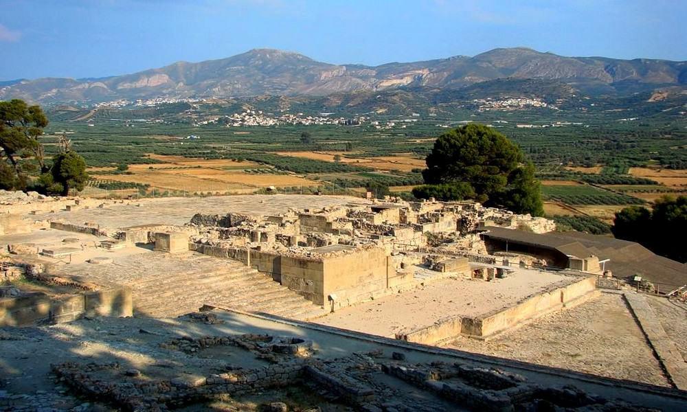 Руины древнего Феста Греция Крит достопримечательности