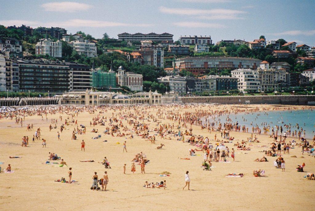 Пляж Сан Себастия Испания