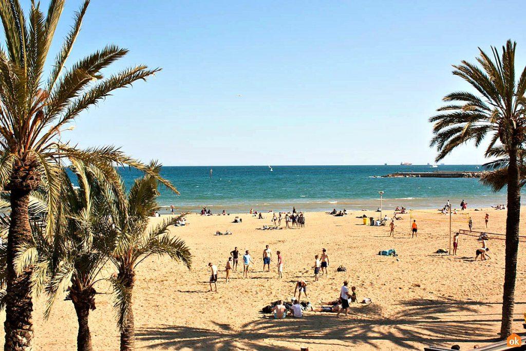 Пляж Соморростро Барселона Испания