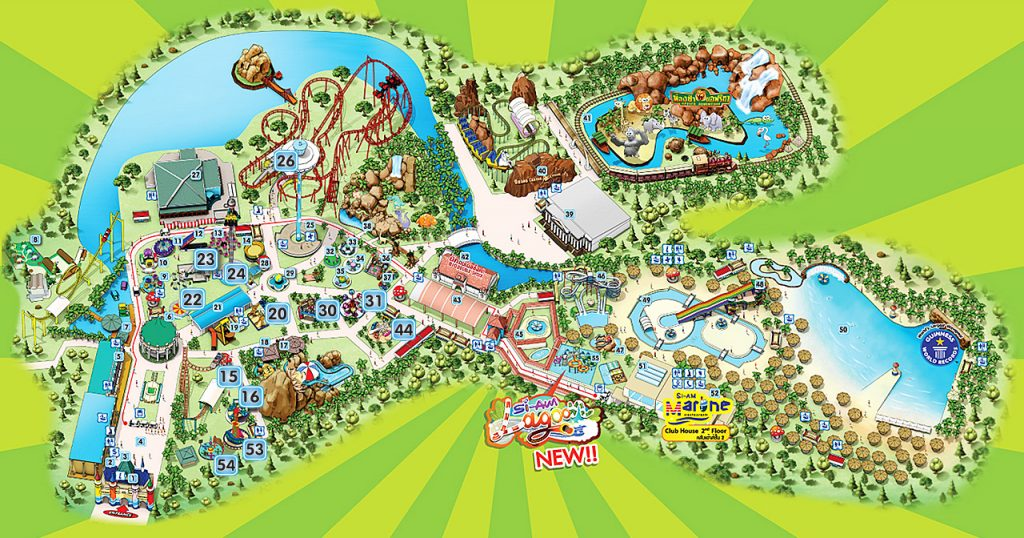 Карта Сиам парка в Бангкоке
